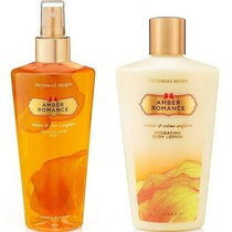 Kit Victoria's Secret Hidratante Body Lotion e Body Splash Amber Romance