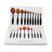 Kit 10 Pincéis Oval Makeup Brush